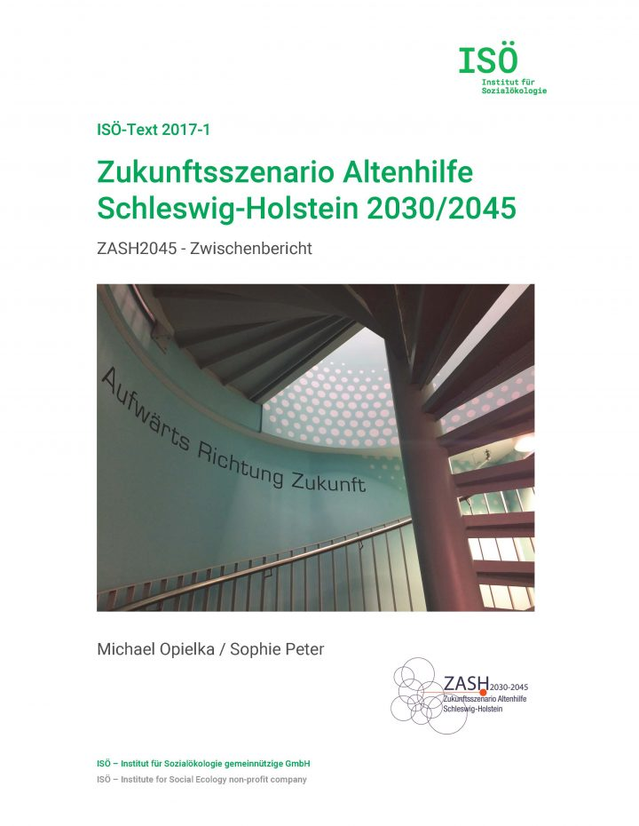 Michael Opielka/Sophie Peter, Zukunftsszenario Altenhilfe Schleswig-Holstein 2030/2045. Zwischenbericht (ISÖ-Text 2017-1)
