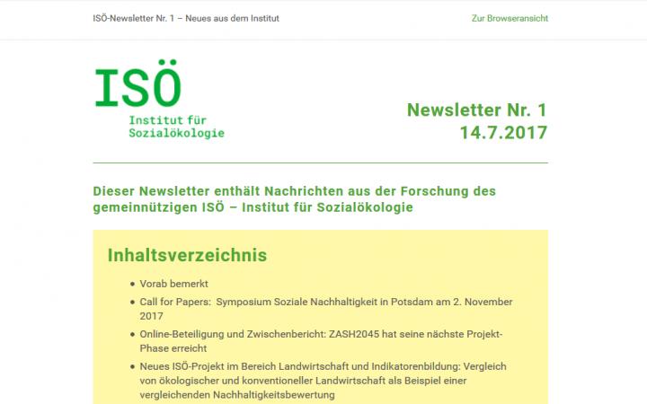 Erster ISÖ-Newsletter erschienen!