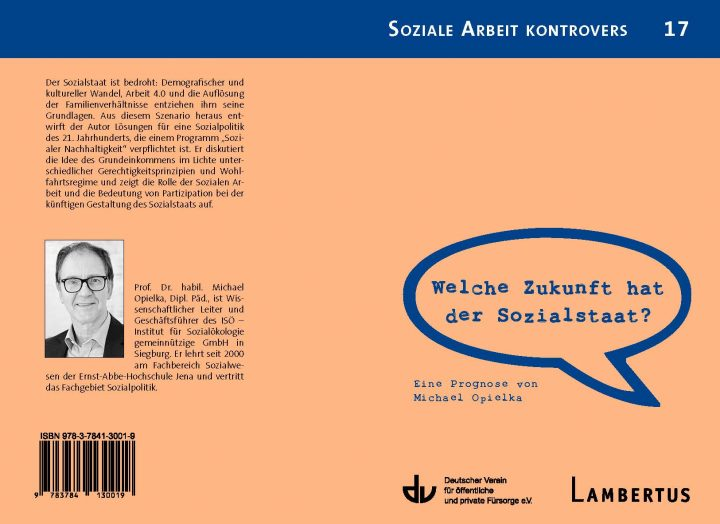 Future of the Social State – New ISÖ book published in the German Association for Public and Private Welfare