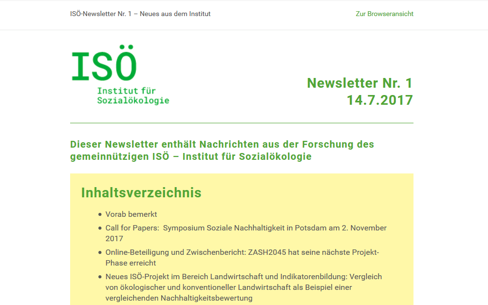 First ISÖ Newsletter published!