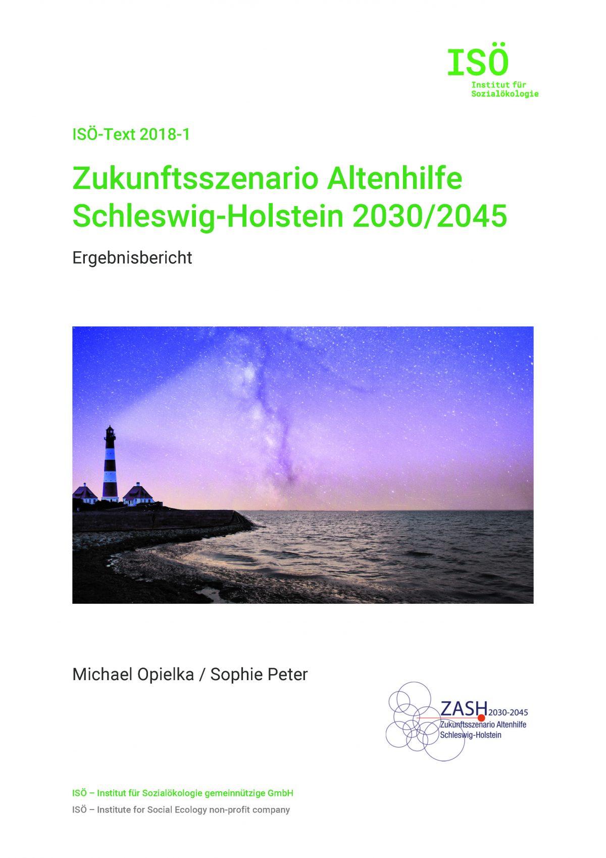 Michael Opielka/Sophie Peter, Zukunftsszenario Altenhilfe Schleswig-Holstein 2030/2045. Ergebnisbericht (ISÖ-Text 2018-1)