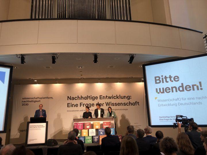 """WPN 2030 """"Nachhaltige Entwicklung: Eine Frage der Wissenschaft"""", Jahreskonferenz in Berlin am 5./6.12.2019"""