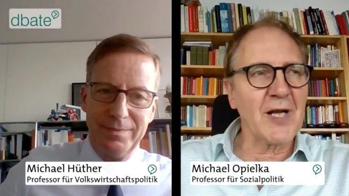 Grundeinkommen: Prof. Opielka und Prof. Hüther debattieren Pro und Contra (24.10.2017)